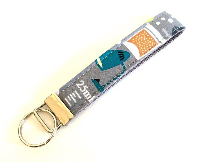 Science Theme Wristlet Key Fob Key Chain Keychain