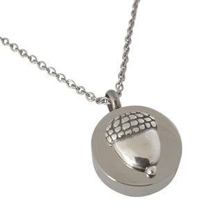 Custom Engraving Available Solid Polished Silver Stainless Steel Heart Lock and Key Cremation Urn Locket Capsule Pendant Necklace
