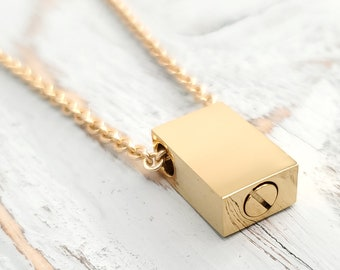 dad urn keychain gold urn cylinder stainless capsule urn for ashes father urn memorial dad cremation jewelry bag charm tube pendant modern