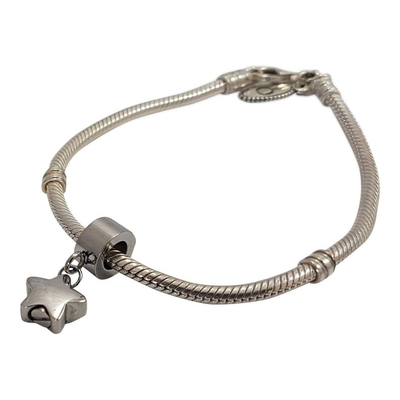 e06061b2a Personalized Star Drop Charm Bead Pandora Compatible | Etsy