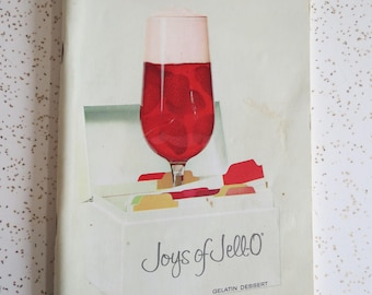 Joys of Jell-O Gelatin Dessert Vintage Recipe Booklet, Jello Mold Dinner Party