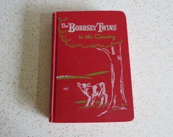 The Bobbsey Twins in the Country by Laura Lee Hope, Vintage 1950's Children's Book