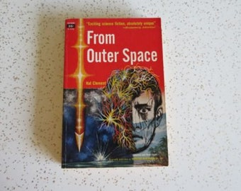 From Outer Space by Hal Clement, Vintage Sci Fi Avon Paperback Book