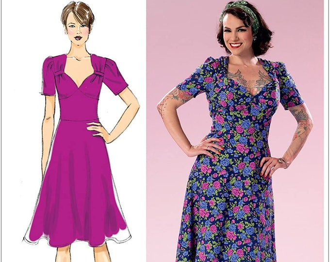 Sewing Pattern B6380 by Gertie ~ Sweetheart neckline with gathered bodice   A5 E5 14 -22 Butterick