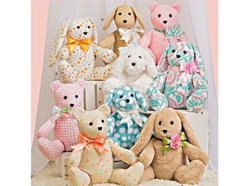 Simplicity 8044  Two piece Sewing Pattern for Plush Teddy Bear ,Dog or Rabbit Stuffed Animals Easy Make!