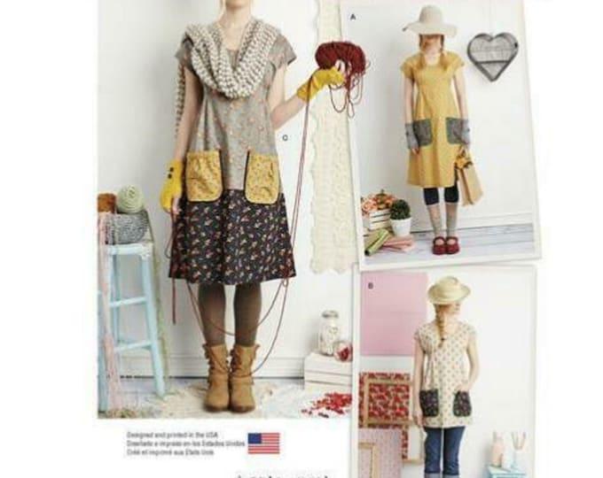 Dottie Angel Simplicity Pattern 1080 Frock Vintage Style Tunic  Dress Sewing Pattern  Paper PATTERN ONLY