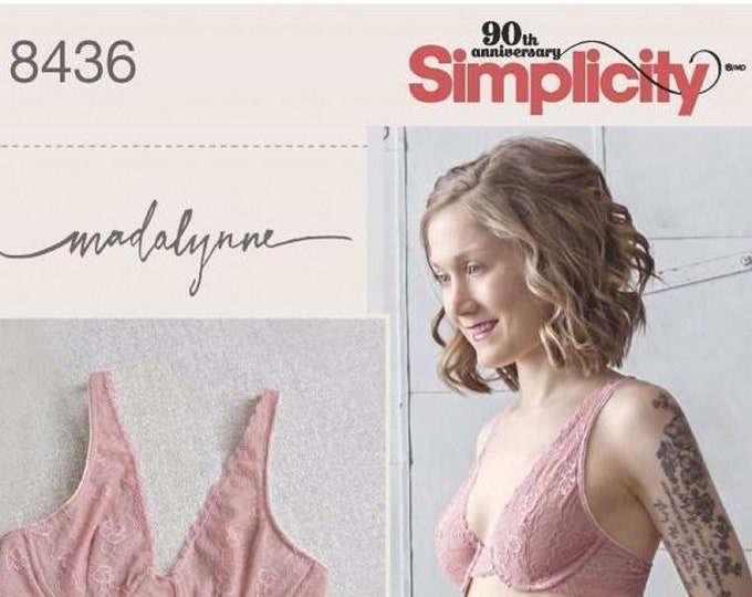 Simplicity Sewing  Pattern #8436 Plunge bra plus pattern for low rise knickers to sew your own lingerie.