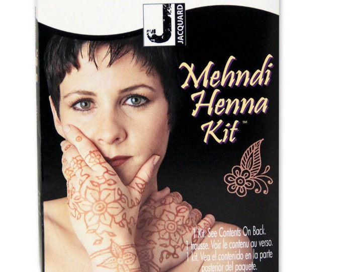 Mehndi Henna Kit All inclusive Jacquard boxed kit to create traditional body art using Henna Powder Great Gift!