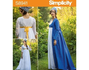 Simplicity Sewing Pattern 8941   American Duchess  gown costume