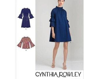 Simplicity Pattern S9012 Cynthia Rowley dress  top sweing pattern - XS-XL A