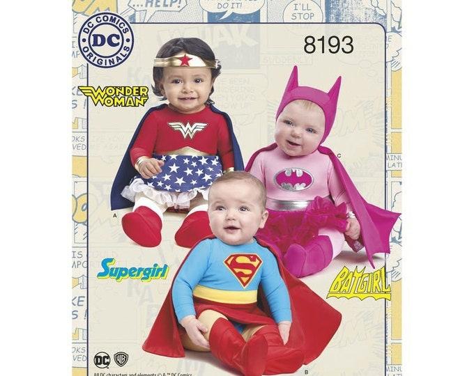 Simplicity Sewing Pattern  8193A Babies' Super Hero Costume -DC Comics  - Australian Craft  Supply Store