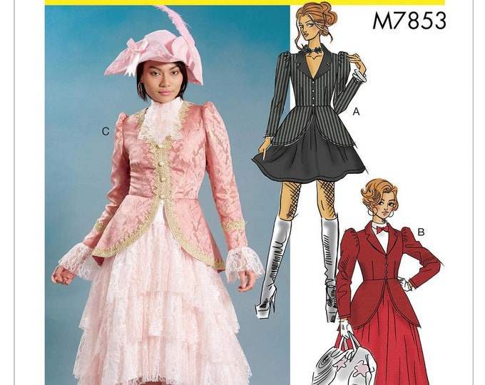 M7853 Misses' Costume Coatdress with collar & cuff Varants Cosplay - Mary Poppins to Manga Girl McCall's