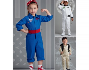 Sewing pattern Unisex child Costume jumpsuit  Astronaut Child Ages 3-8 SIMPLICITY S8977A