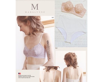 Simplicity Pattern 8229 Misses' Underwire Bra  and Panties Womans Underwear Patterns -  All Sizes- Madalynne Lingerie