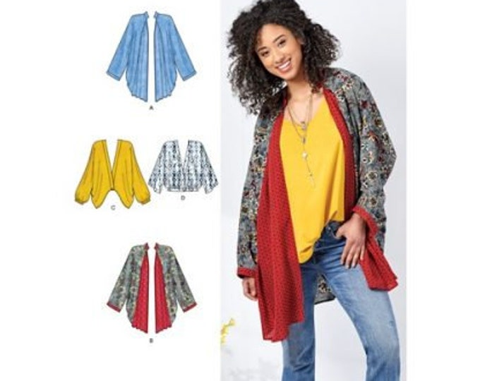 Simplicity Pattern 8696  Misses Kimono Sleeves, godet & band options with length Variations in Sizes XS-XL