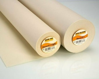 Decovil I Light, OR Heavy -  Iron-on Fusible Interlining, suitable for bags, hats, belts and interior decor.