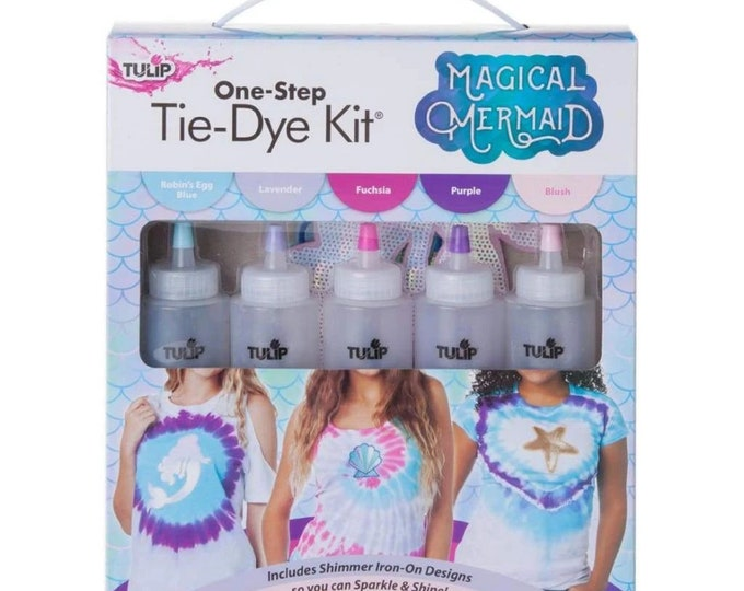 Magical Mermaid  SHIMMER with Iron on transfers - Tulip One Step Tie Dye Kit 5 Pack