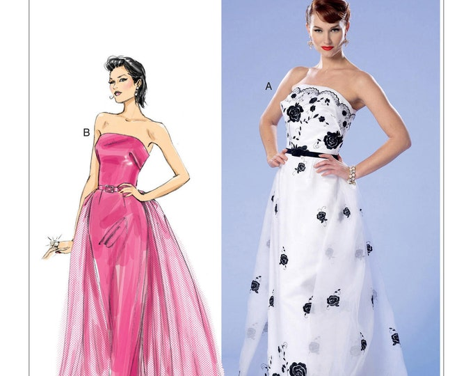 Sewing Pattern B6353 by Gertie  Strapless  Formal Gown    A5(6 -14) E5 14 -22Butterick
