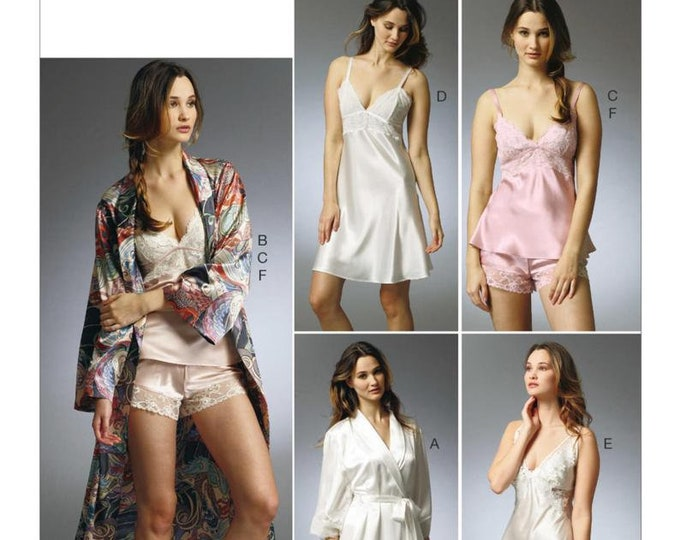 Vogue Sewing Pattern  V8888 14-20 Wrap Robe, Camisole,Slip & Panties, Misses Lingerie Sleepwear Collection