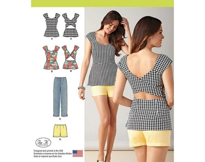 Simplicity Pattern 1373 Misses' Slim Pants, Shorts & Tops Sewing Pattern  sizes -14-22 - Paper paper PATTERN posted