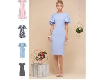 Simplicity Sewing Pattern  8292 Misses'/Miss Petite Dresses  RR 14-22
