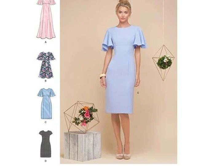 Simplicity Sewing Pattern  8292 Misses'/Miss Petite Dresses  RR 14-22