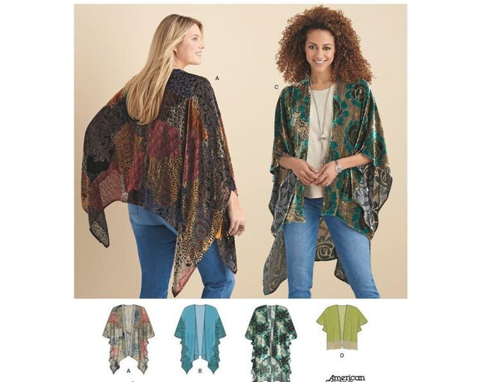 Simplicity Pattern 8419 American Sewing Guild  Misses Kimono Style Wrap with Variations in Sizes XS-XL
