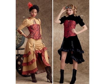 Simplicity S9007  Sewing Pattern Cropped Bolero Jacket with Gathered Raised skirt  for Steampunk  Cosplay Costume