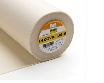 Decovil I Light, Iron-on Fusible Interlining, suitable for bags, hats, belts and interior decor