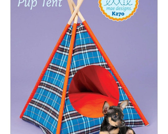 Snug Pup Tent and pillow  Paper Pattern by Ellie Mae Designs