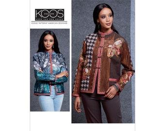 Vogue Sewing Pattern V1608  KOOS Van den Akker Reversable Jacket S-M- L-XL