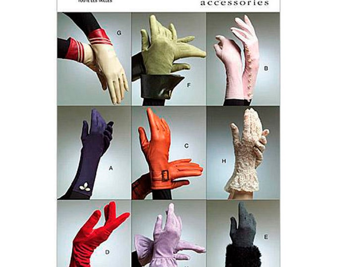Gloves ! Vogue Sewing Pattern V8311  All sizes in 8 styles  & cuff variations  - Vogue accessories