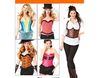 Simplicity Sewing Pattern 1345 Woman's Corset , Underbust or strapless with Ruffle shrug pattern included