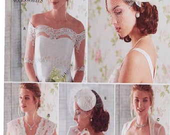 Simplicity Pattern 8364 Misses' Lacy Cover-Ups, Off shoulder Shrug ,Fascinator /Hat Sewing Pattern Bridal or Fancy Occaision