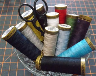 Gutermann sewing thread 8 pack in popular colours  100m Rolls Free Shipping Australia