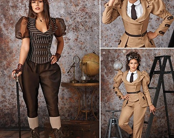 Simplicity 8114  Sewing Pattern Jacket Jodphurs  Steampunk Cosplay Costume  Cosplay Costume