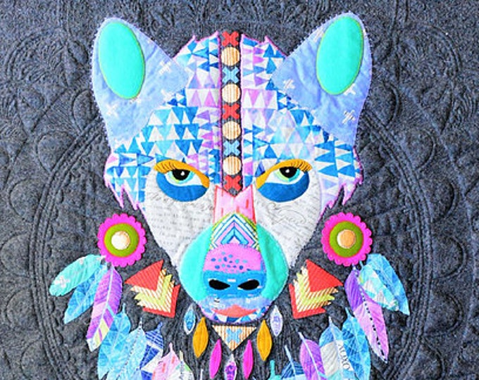 Wild Spirit: Prince of the Woods  Printed  PAPER pattern Hipster Wolf SOLD OUT back soon