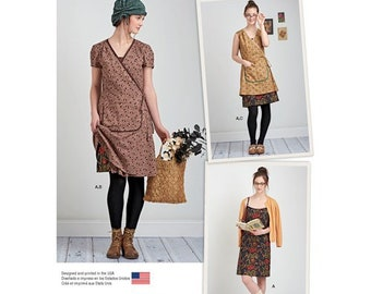 Simplicity Pattern 8186 Misses' Wrap or Apron Dress Dottie Angel Frock Sizes  D5 4-12  or P5 12-20
