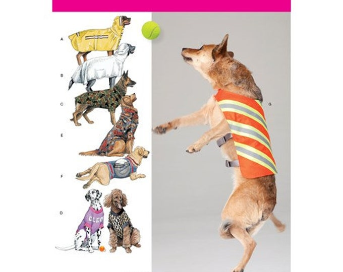 Simplicity Pattern 1578 Large Size Dog Coats with or without hood patterns