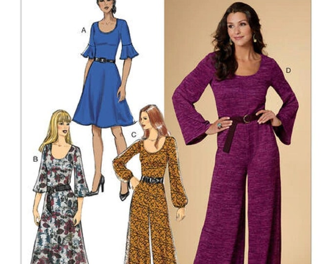 Sewing Pattern B6622  Dress  and Jumpsuit paper pattern posted -   A5 - E5 Butterick