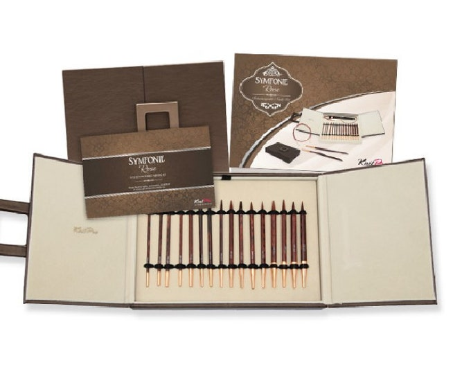 KnitPro Symfonie Rose Interchangeable Circular knitting  Needle Deluxe Box Set