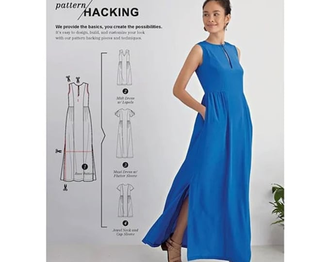 Simplicity Sewing Pattern S8888 Great Design Hacking Dress  XXS -XXL  7 sizes