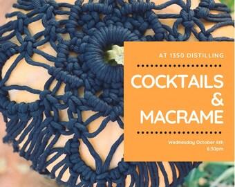 Pumpkin Macrame & Cocktails at 1350 Distilling