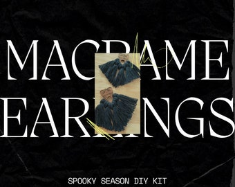 DIY Kit: Planchette Macrame Earrings