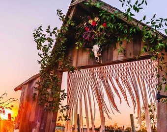 Always & Forever - Large Handmade Macrame Backdrop Hanging for Wedding Decor on Arbors and Arches