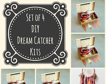 Set Aus 4 Burgunder DIY Dream Catcher Kits. Tun Sie Es Selbst Handwerk Kit  Geschenk