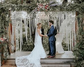 Wedding Backdrop Hanging Garland Wedding Decorations Boho Wedding Decor Photo Backdrop