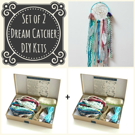 Set Of 40 Blue DIY Dream Catcher Kits Do It Yourself Craft Etsy Adorable Dream Catcher Kits Supplies