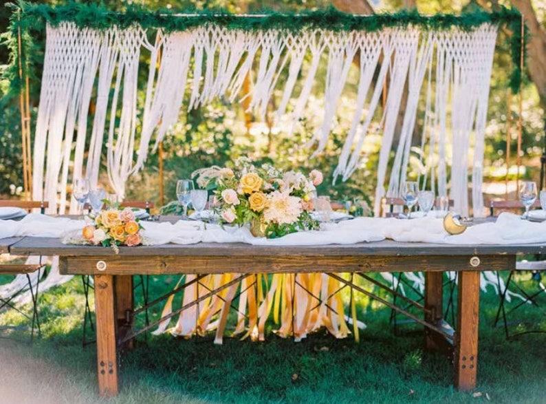 Boho Wedding Decor.Wedding Backdrop Rustic Wedding Decor Photo Booth Backdrop Boho Wedding Macrame