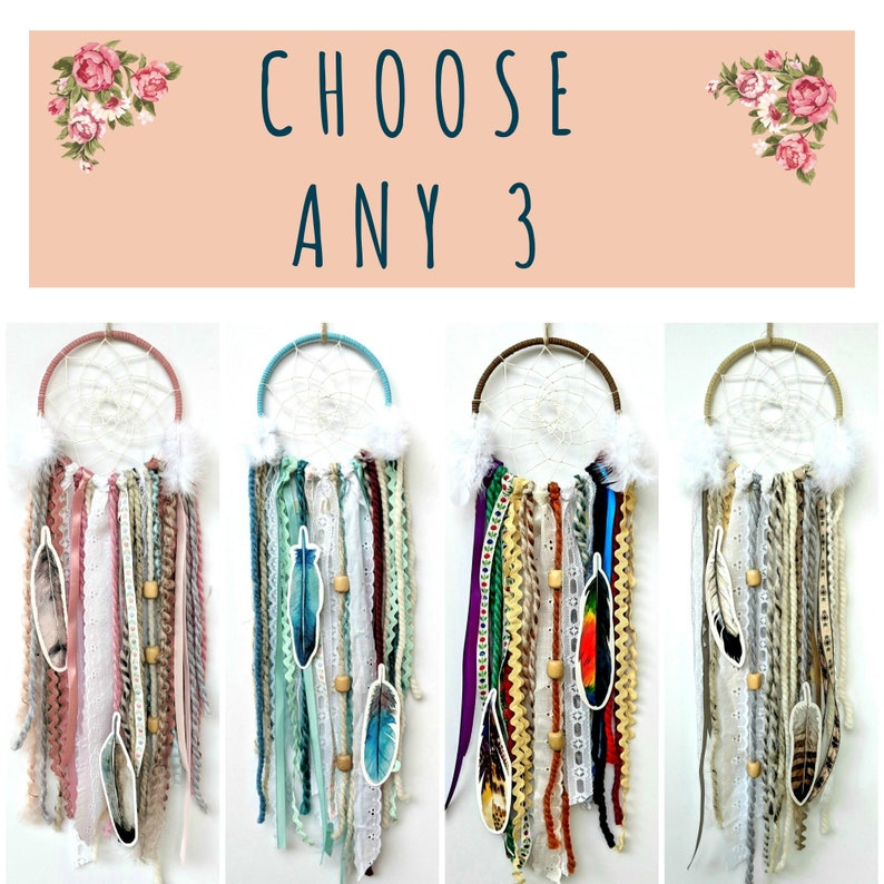 Choose Any 3 Diy Dream Catcher Kits Do It Yourself Craft Kit Gift For Boys Or Girls By The House Phoenix